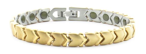 24/7 Gold Tone Memories - Samarium Cobalt  - Stainless Steel Magnetic Bracelet