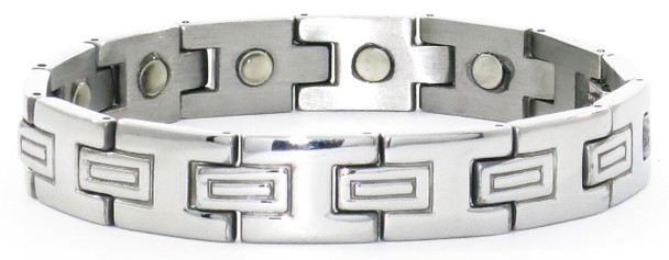 Double T - silver-plated  Magnetic Therapy  Bracelet