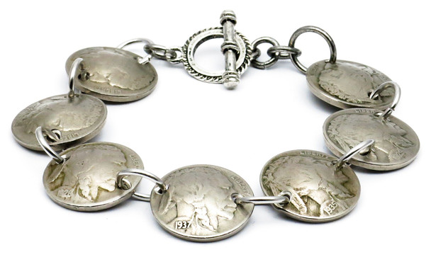 Indian Head  Nickel Magnetic Bracelet - Handmade
