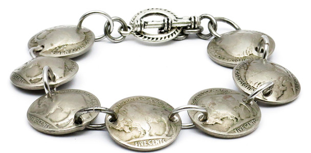 Buffalo Nickel Magnetic Bracelet - Handmade