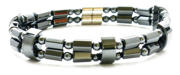 Double String - Hematite Magnetic Therapy Bracelet or Anklet