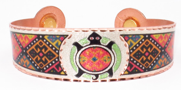 Native Turtle Solid Copper Magnetic Therapy Bracelet