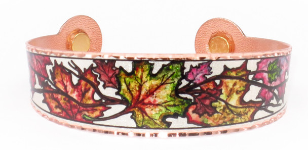 Maple Leaves - Solid Copper Magnetic Therapy Bracelet