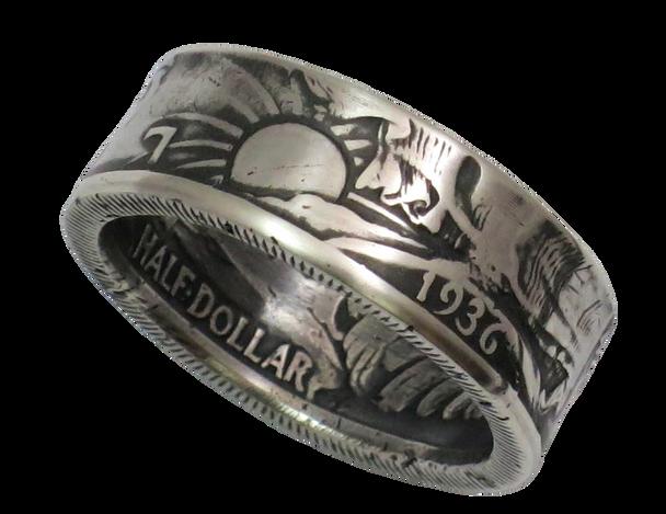 Walking Liberty Half Dollar Coin Ring Handmade
