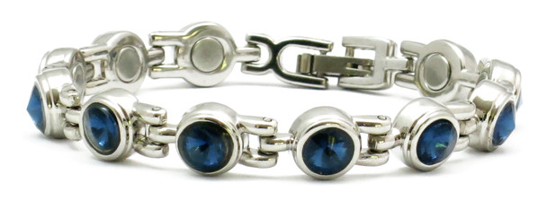 Dark Blue  King Cut  - Magnetic Therapy Bracelet