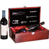 Rosewood Piano Finish Large Bottle Case and Wine Serving Kit