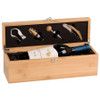 Genuine Bamboo Bottle Case and Wine Serving Kit