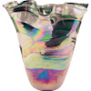 Oil Slick Freeform Glass Vase