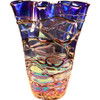 Multicolored Freeform Glass Vase