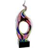 Multicolored Swirl Glass Statuette