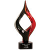 Red and Black Twist Art Glass Statuette