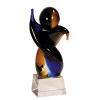 Large Twisted Body Art Glass Statuette