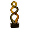 Brown Twist Art Glass Statuette