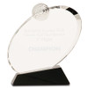 Large Clear Crystal Golf Award on Black Crystal Base