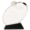 Medium Clear Crystal Golf Award on Black Crystal Base