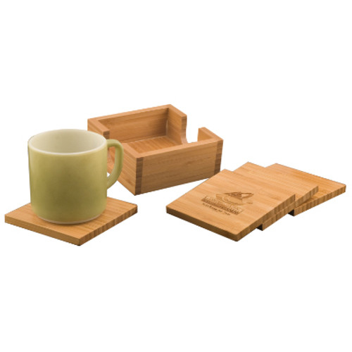 Genuine Bamboo Large Square Coasters