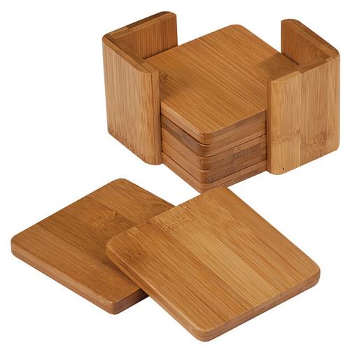 Genuine Bamboo Small Square Coasters