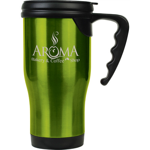 Metal Travel Mug with Handle