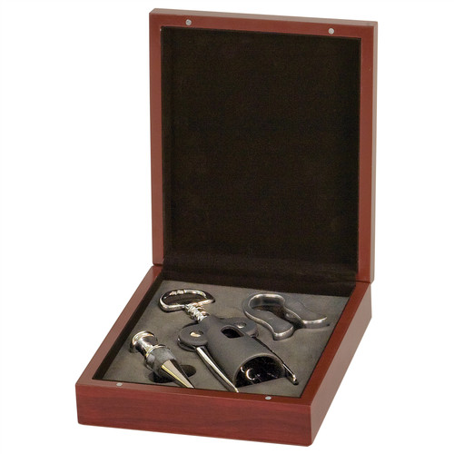 Rosewood 3-Piece Wine Serving Kit