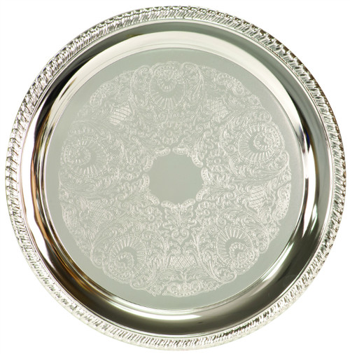 Silver-Plated Large Round Serving Plate