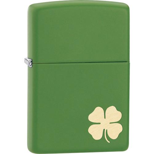 Zippo® Shamrock Moss Green Matte Lighter