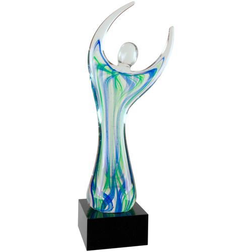 Large Glass Figure Statuette