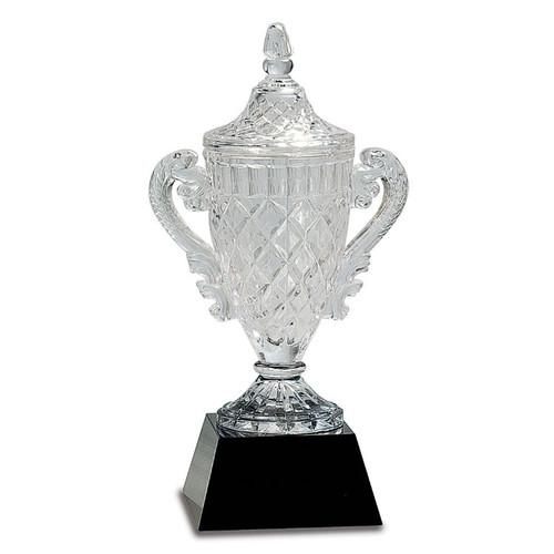 Medium Crystal Trophy on Black Pedestal Base