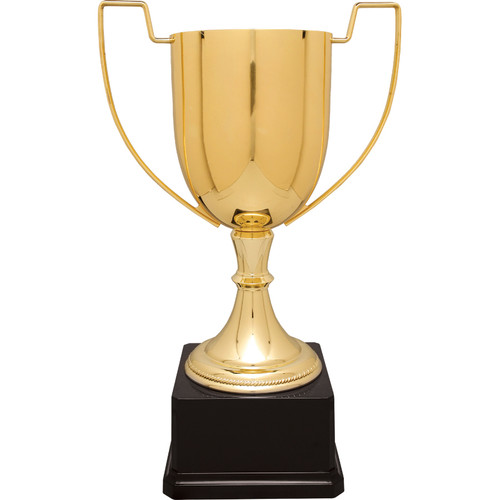 Medium Zinc Trophy on Black Plastic Base