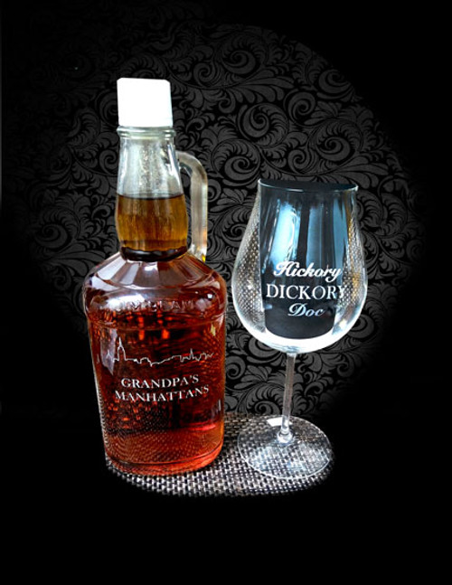 Custom Glass Etching - Whisky 3