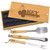 Wood and Stainless Steel BBQ Gift Set