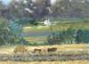 Amish making hay note card