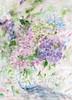 Hydrangea note cards in a vase by Julia Swartz