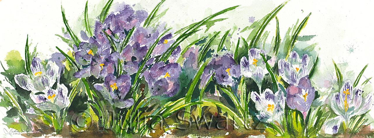 Crocus Watercolor Painting