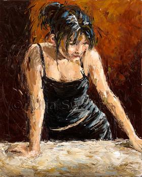 A portrait painting on canvas by Julia Swartz