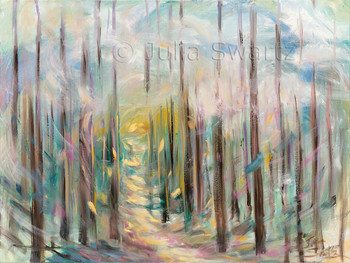 An abstract oil painting, Light My Path, by Julia Swartz, Lancaster PA