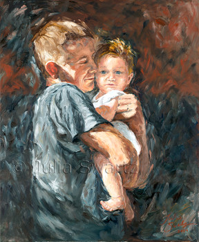 A portrait of a Father and you son by Julia Swartz