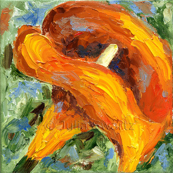 Orange Calla Lily - Flower oil painting