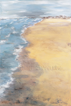 An oil painting of the beach at the Outer Banks NC by Julia Swartz Lancaster PA