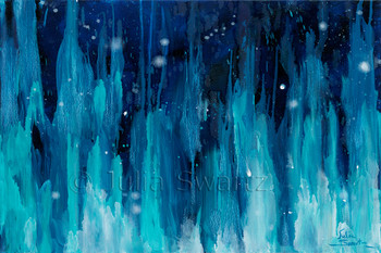 An abstract oil painting, Aurora, by Julia Swartz, Lancaster PA