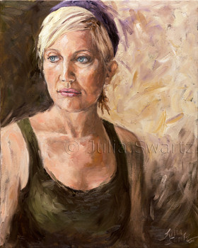 This oil portrait is of Julia's friend, Sarah,