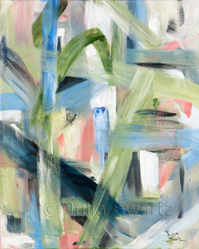 An abstract oil painting, See Through, by Julia Swartz, Lancaster PA