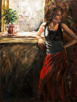South Window - Figure Oil Painting
