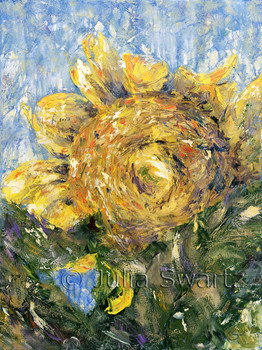 Original Oil paintings of Sun Flowers by Julia Swartz Lancaster PA