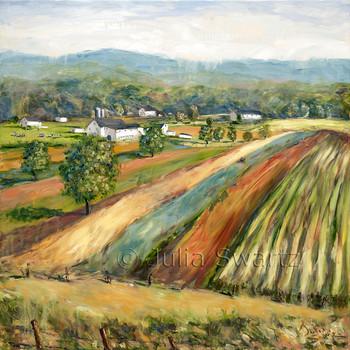Beautiful Lancaster Co  Amish Farm oil painting by Julia Swartz