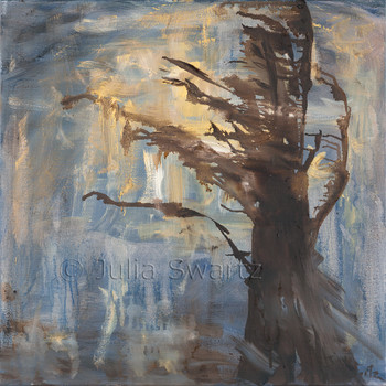 An abstract oil painting, Weathered, by Julia Swartz, Lancaster PA