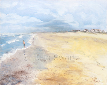 Original Oil paintings of the Beach, Outer Banks by Julia Swartz Lancaster PA