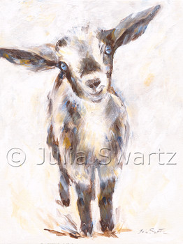 A painting of a baby goat by Julia Swartz