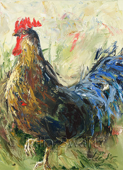 Rooster note card by Julia Swartz