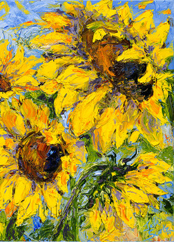 Sunflowers note cards by Julia Swartz