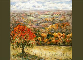 Grandeur, a fall landscape note card